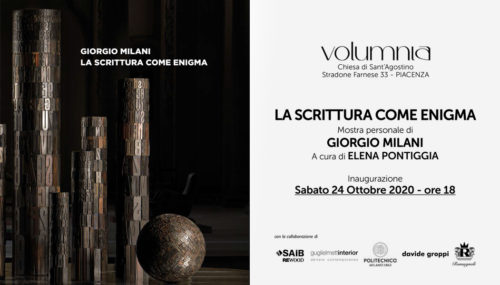 Volumnia hosts Giorgio Milani's solo exhibition, Writing as an enigma.