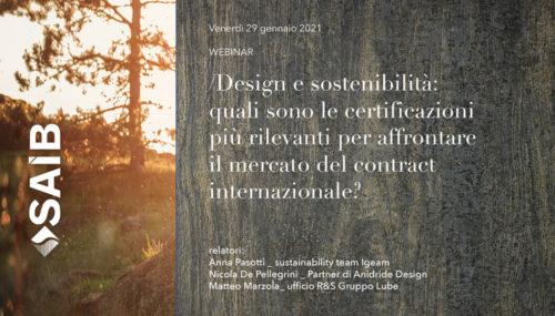 Saib webinar design e sostenibilità